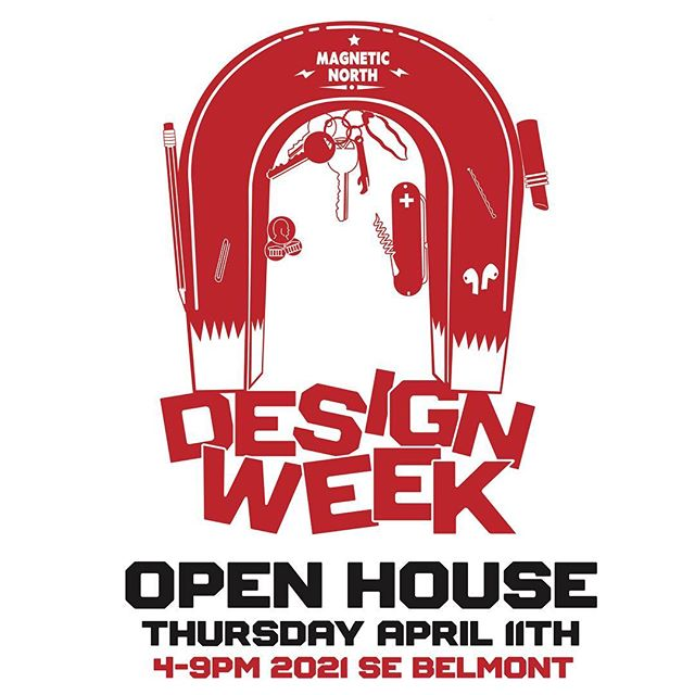 Oh heck yeah!!! It's @designweekpdx We are having a totally badass #openhouse at the studio, this Thursday from 4-9! It's gonna be #RAAAAAAAD!!!!!!! Beers by @montuckycoldsnacks