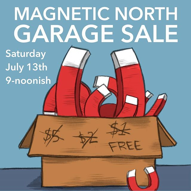 Hey everyone! We're clearing out the last of our stuff as we move spaces. Come by on Saturday and pick up some stuff for cheap! #garagesale #pdx