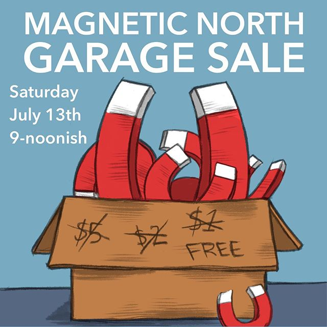 This weekend you can take some of Magnetic North home with you as we clean house. We've pared down what we need for our new digs at @truenorthpdx and are selling off what's left. Tools, furniture, household items, and more. Hope to see you there!