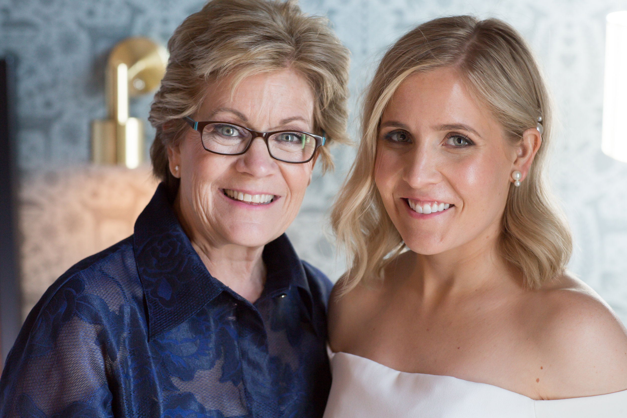 Bridal Makeup by Lacie; mother of the bride by Danielle  Primped MN