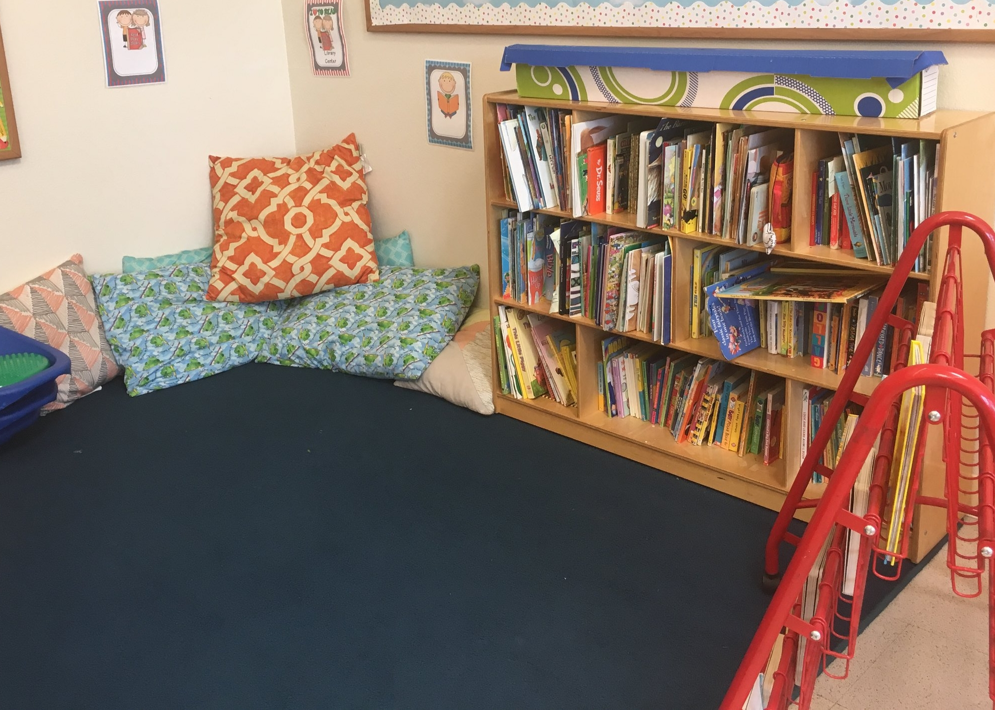 Come snuggle up with a book in our library!