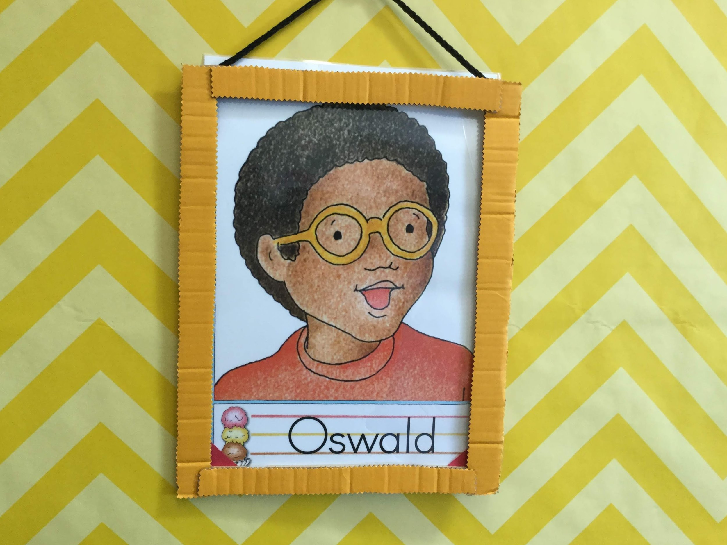 Hey Oswald - Oswald is helping us with the letter O. He loves odd animals like otters and ocelots. He teaches us to make an O by starting with a C and closing it up. Thanks Oswald.