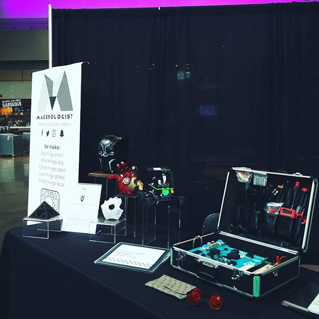 We're ready for you @bumbershoot! Come visit us at the Armory and check out our jumbo #Arduino, #3Dprinted cosplay, live #lasercut leather sewing by @efficio_fashion, and handmade jewelry by @errlooks