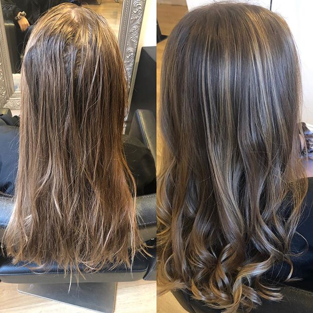 GORGEOUS soft caramel balayage for a gorgeous girl ..... all ammonia free 💕 #paint #hale #karen #curls @cloudninec9 #balayage #balayagehighlights #autumn🍁 #diarichesse @alternahaircare