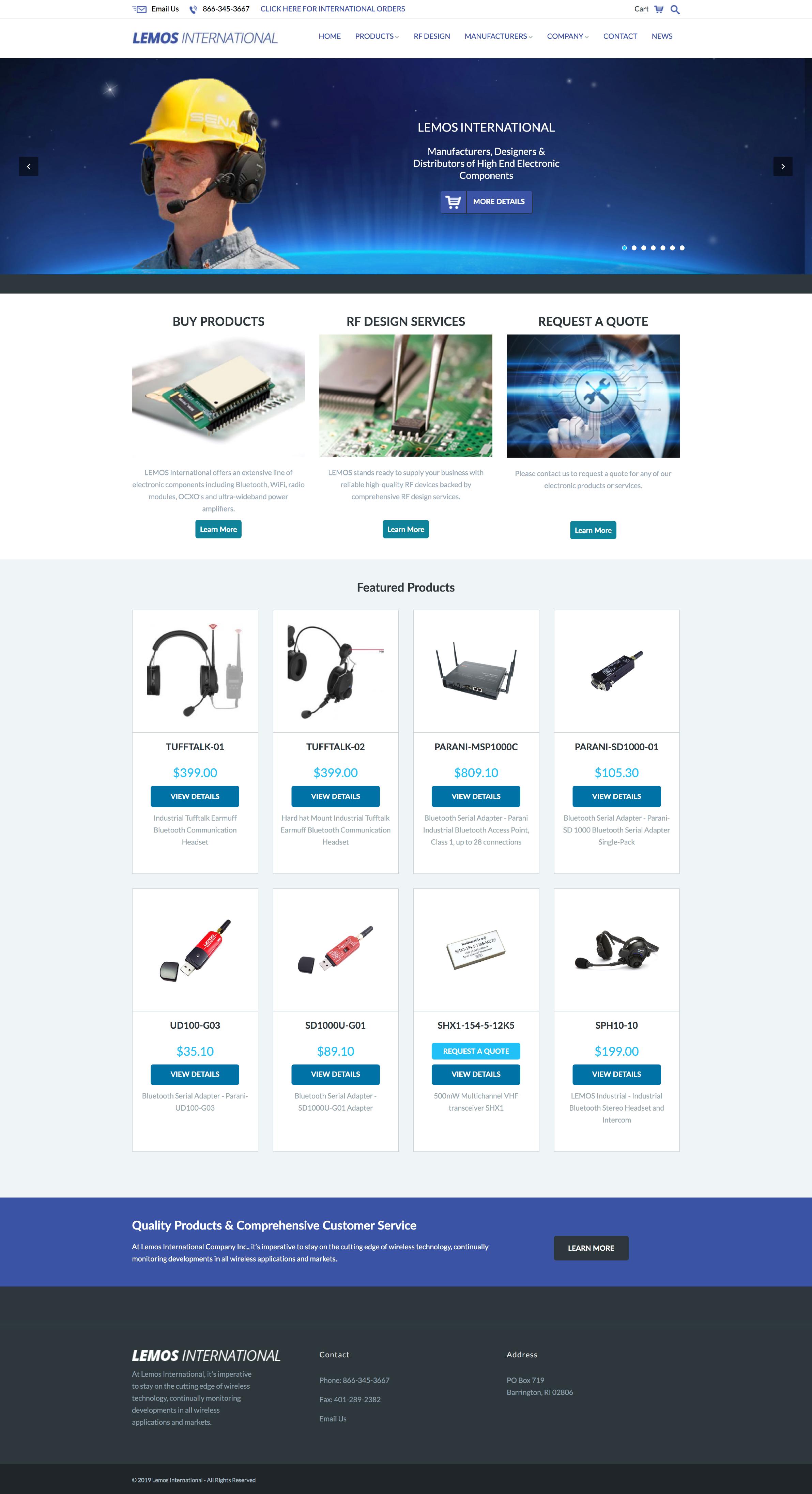 Original Homepage design