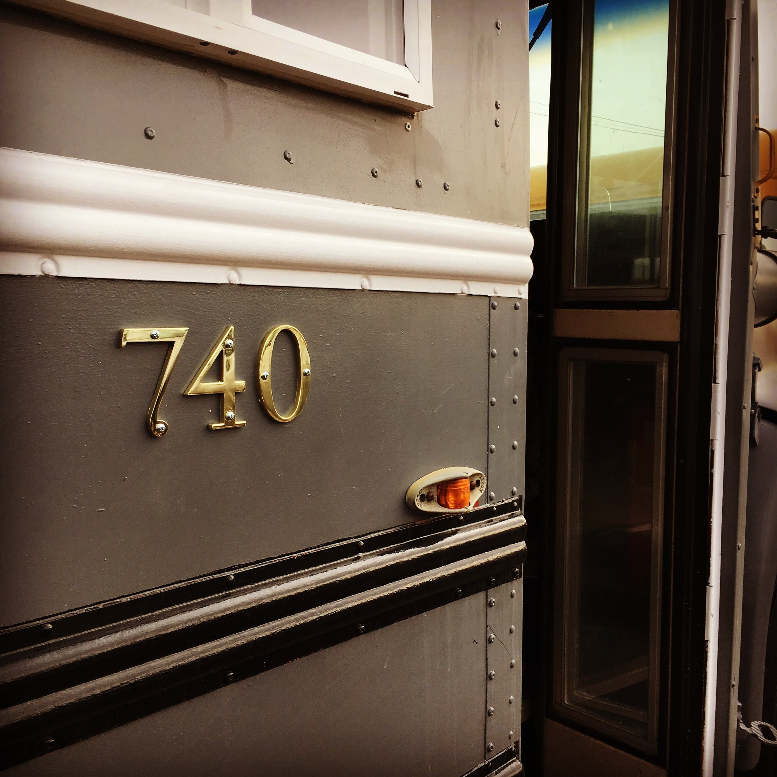 Entrance to Bus #740
