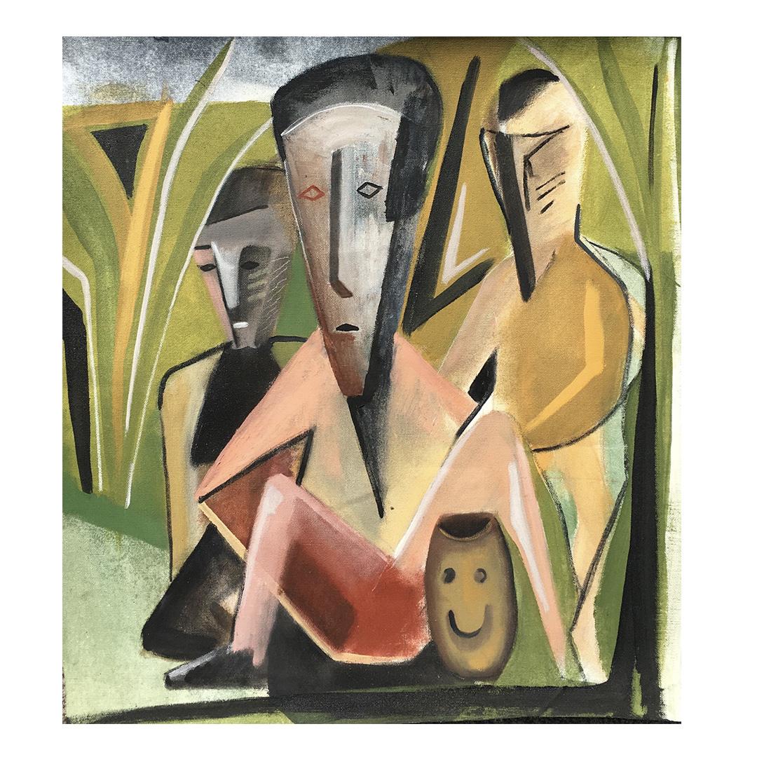 """Trials & Tribulations"" 60x60cm oil canvas"