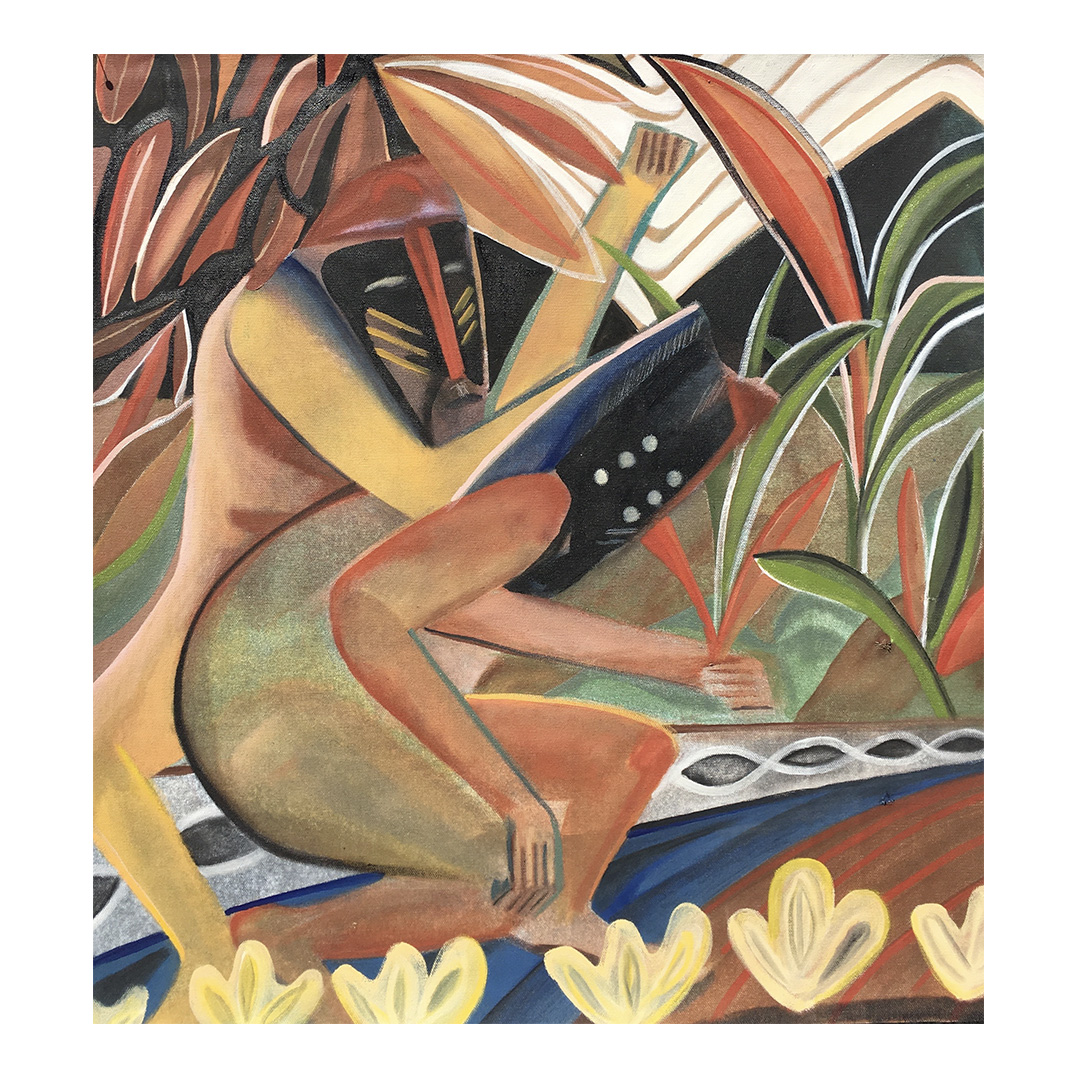 """The birth of violence"" 60x60cm oil canvas"