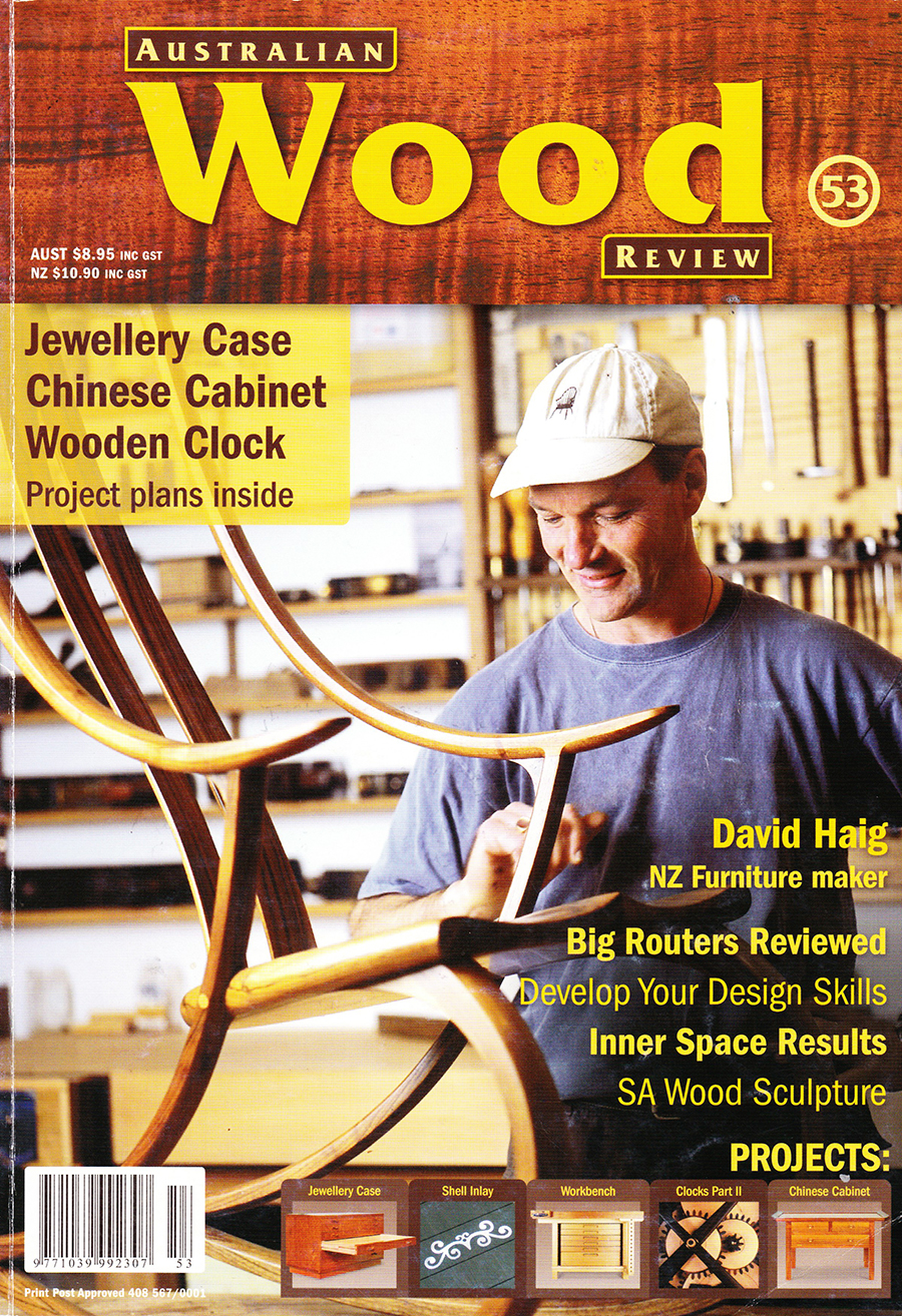 Australian Wood Review  David Haig - NZ Furniture maker