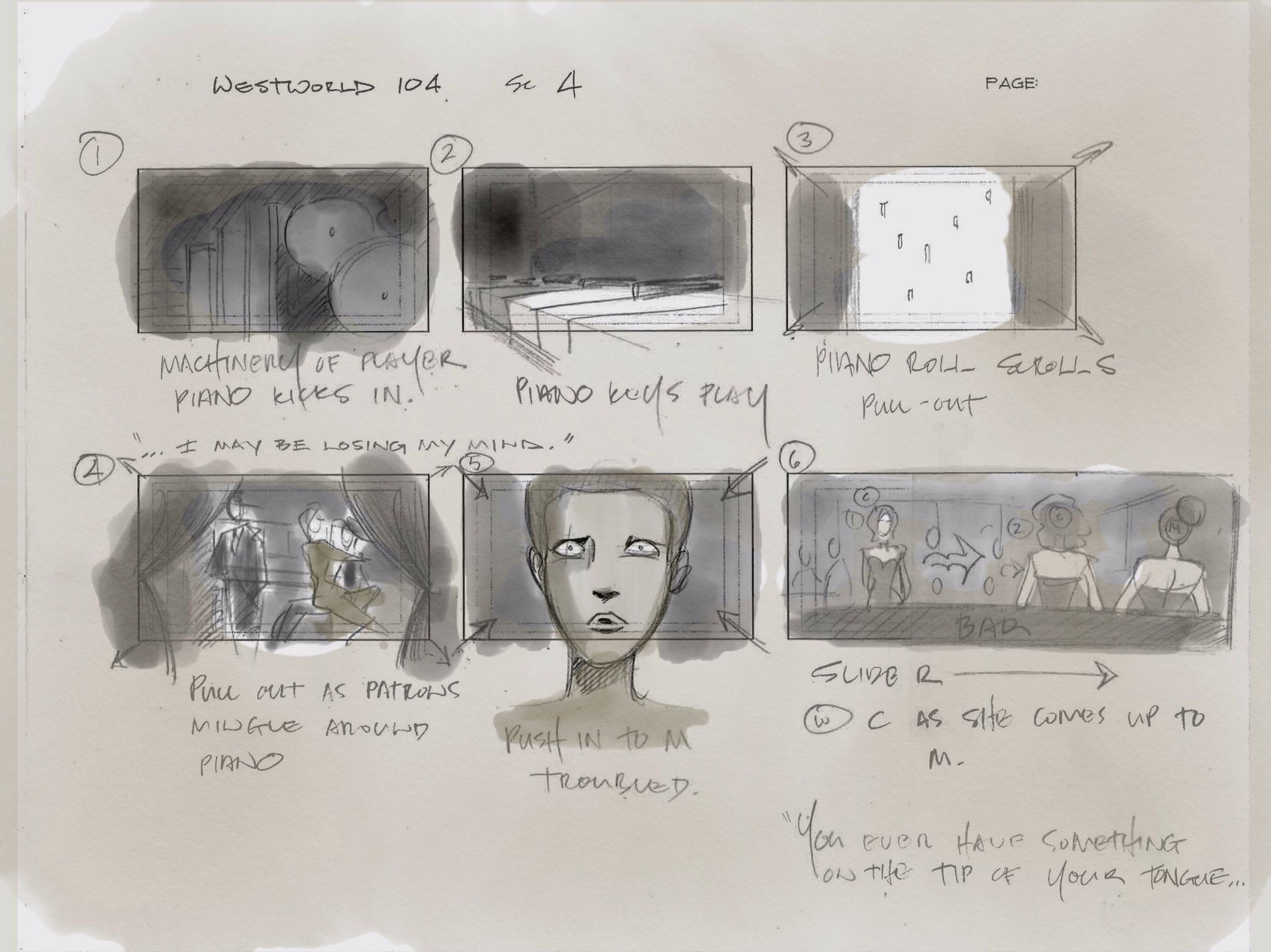 Vincenzo Natali Westworld Storyboard 1
