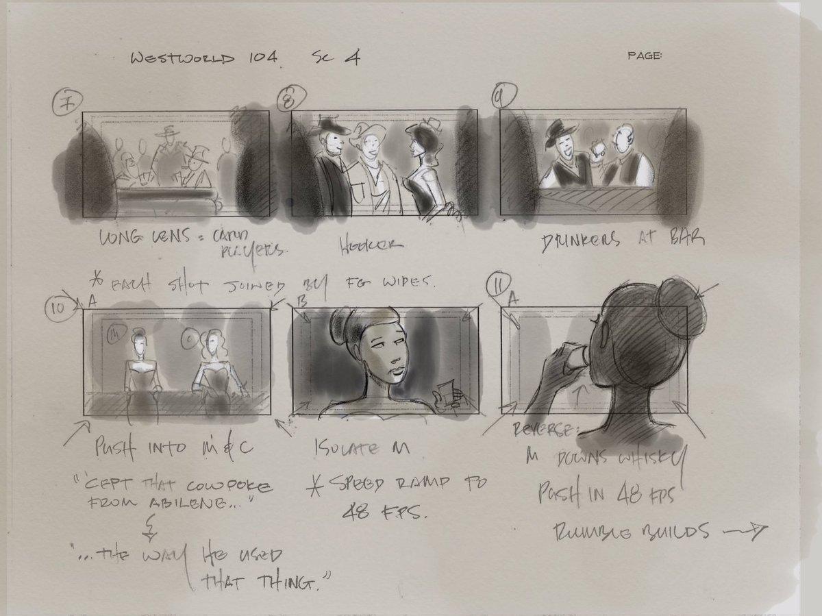 Vincenzo Natali Westworld Storyboard 2