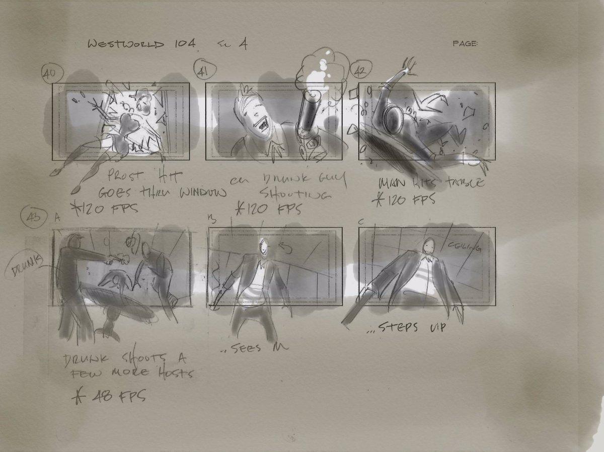Vincenzo Natali Westworld Storyboard Page 6