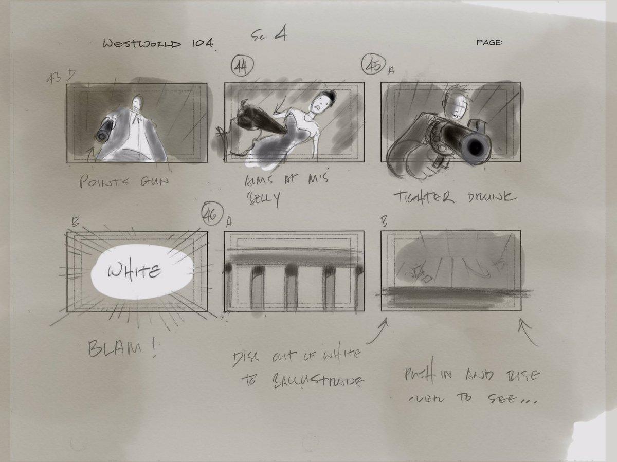Vincenzo Natali Westworld Storyboard Page 7