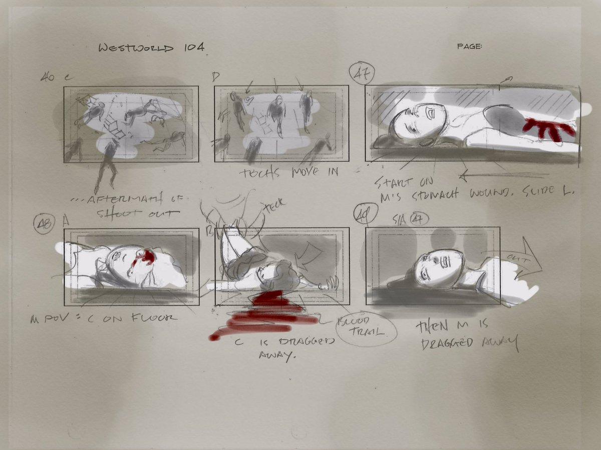 Vincenzo Natali Westworld Storyboard Page 8