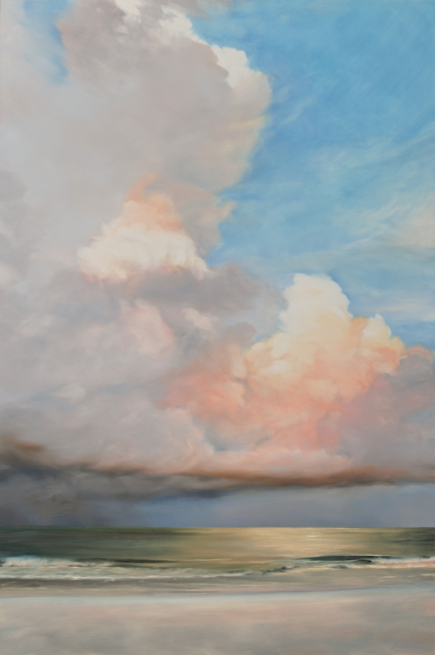 "Florida Sky 37  (sold) oil on board, 36"" x 24""  2012"