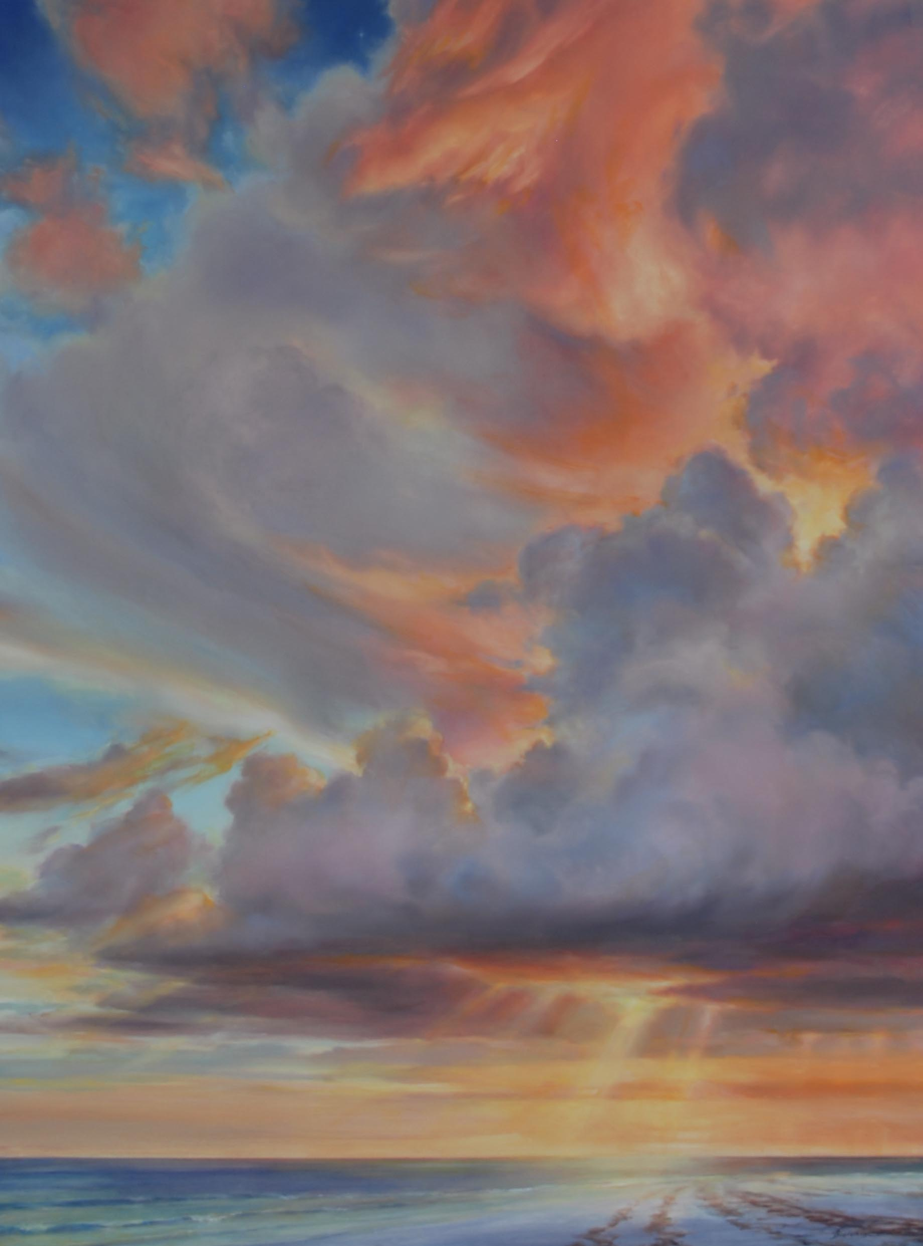 "Florida Sky 16  (sold) oil on board, 40"" x 30"" 2012"