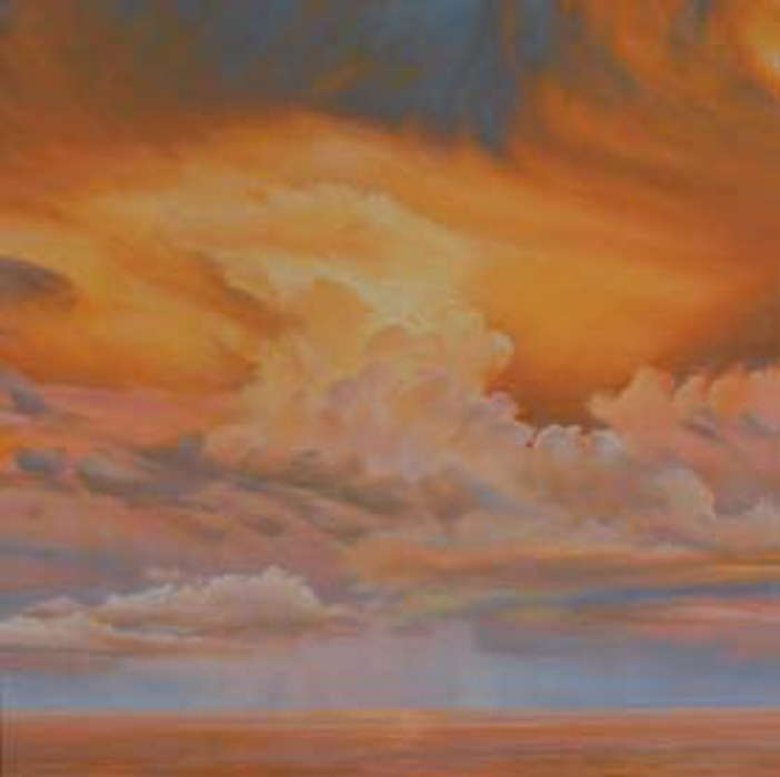 "Florida Sky 24  oil on board, 48"" x 48"" 2012"