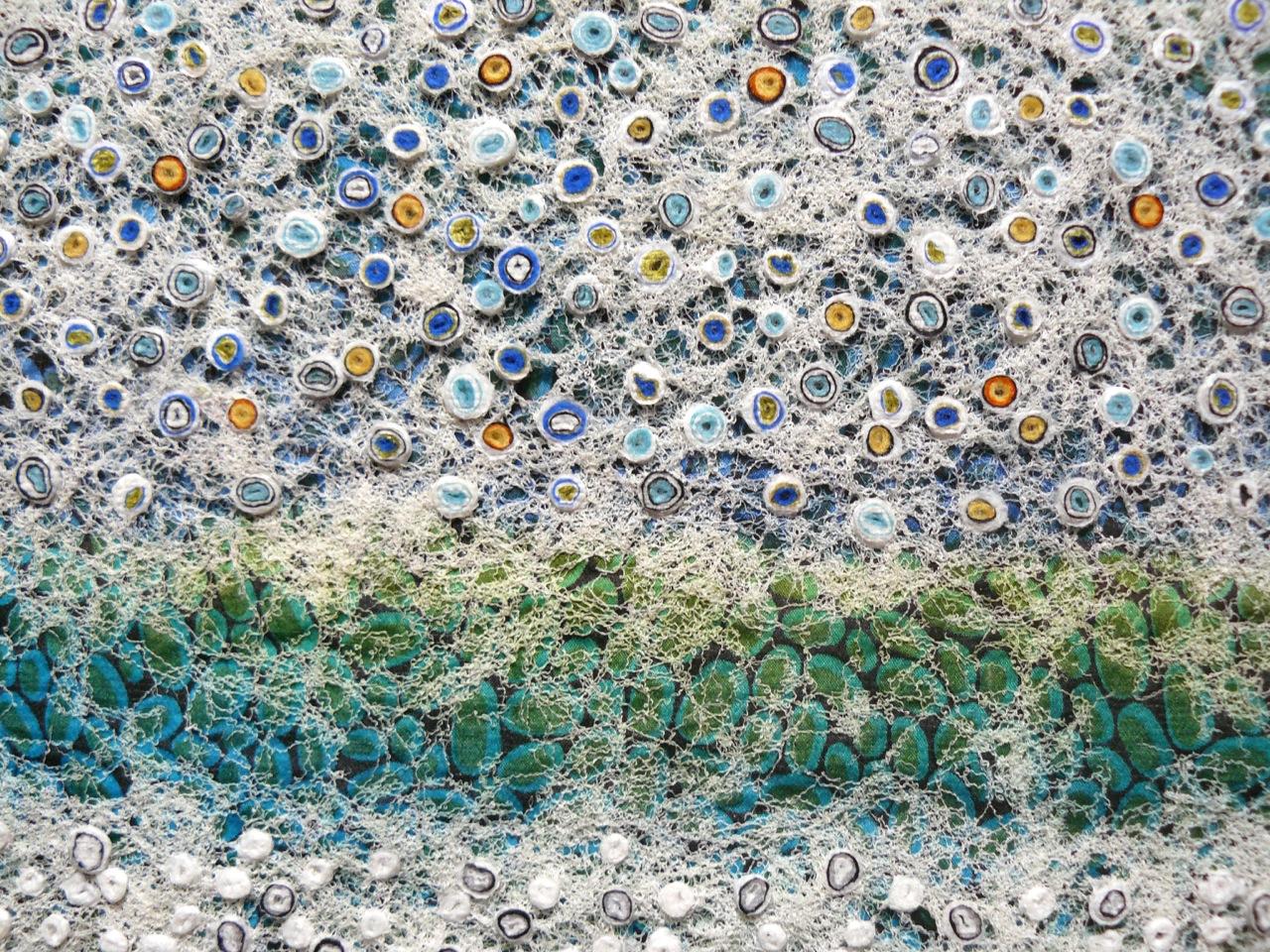 Sea Stones (Detail)  silk construction
