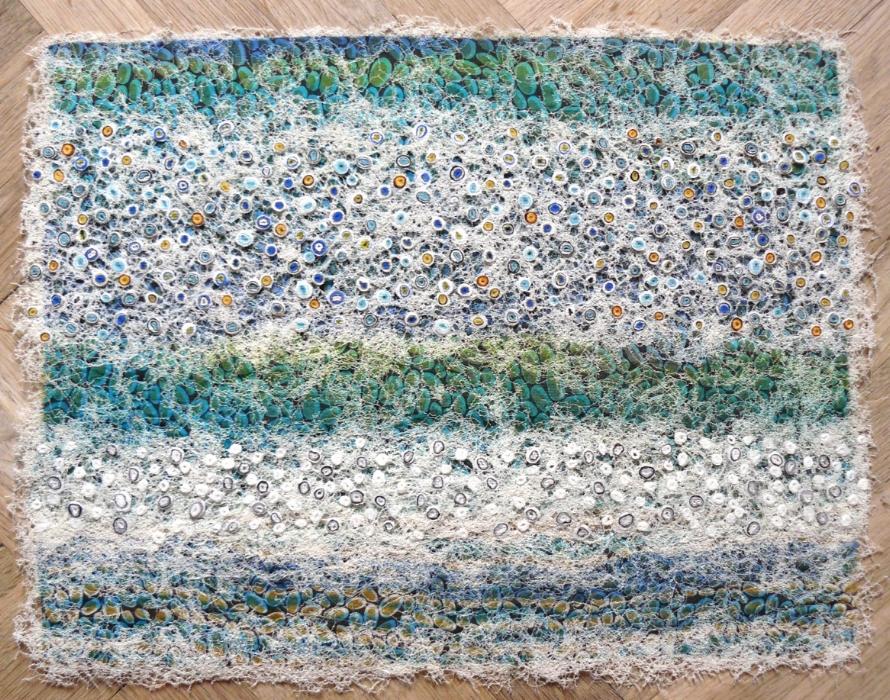 Sea Stones  silk construction