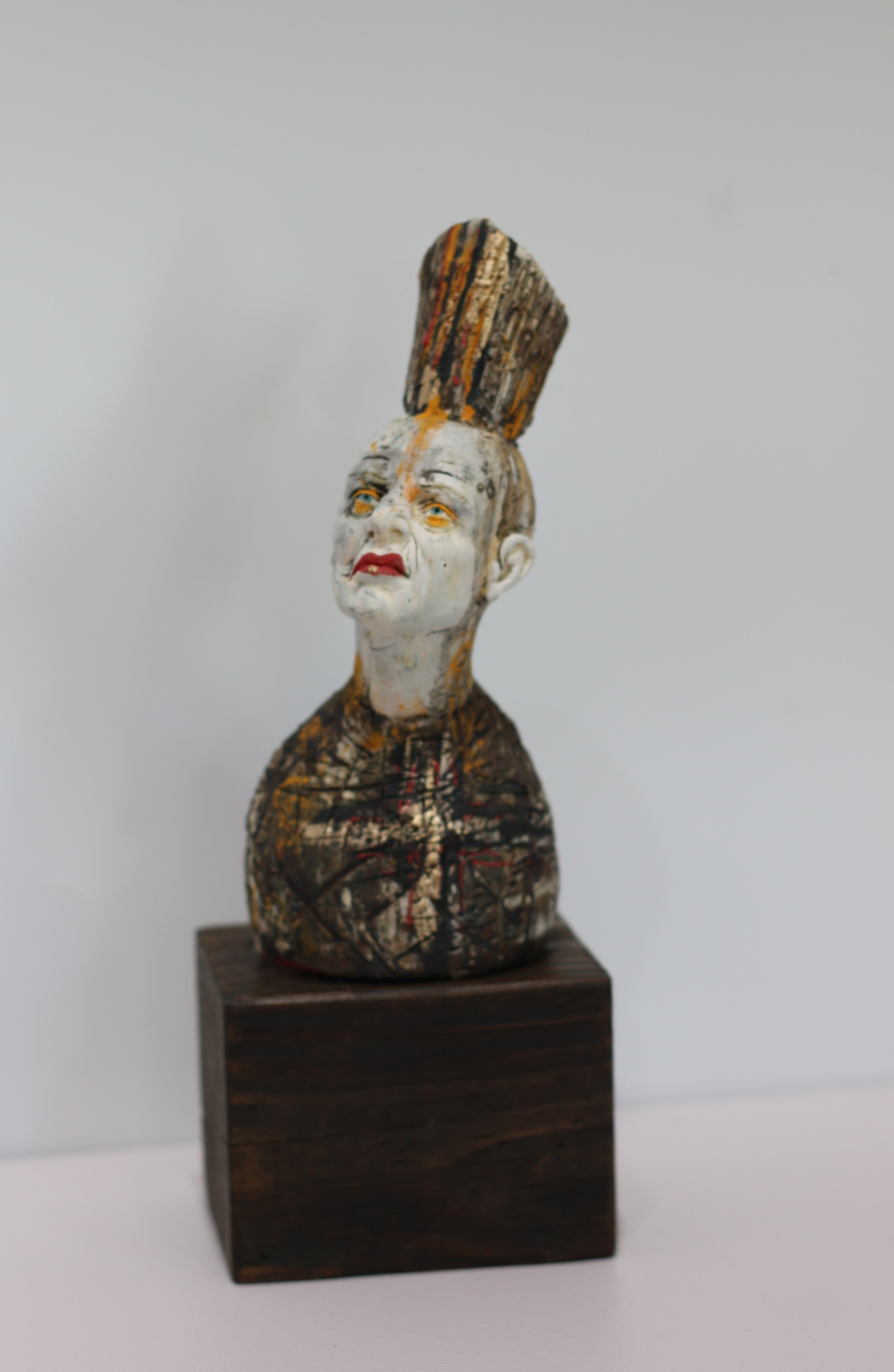 """CHARACTER"" Blocks  Porcelain sculpture wood"