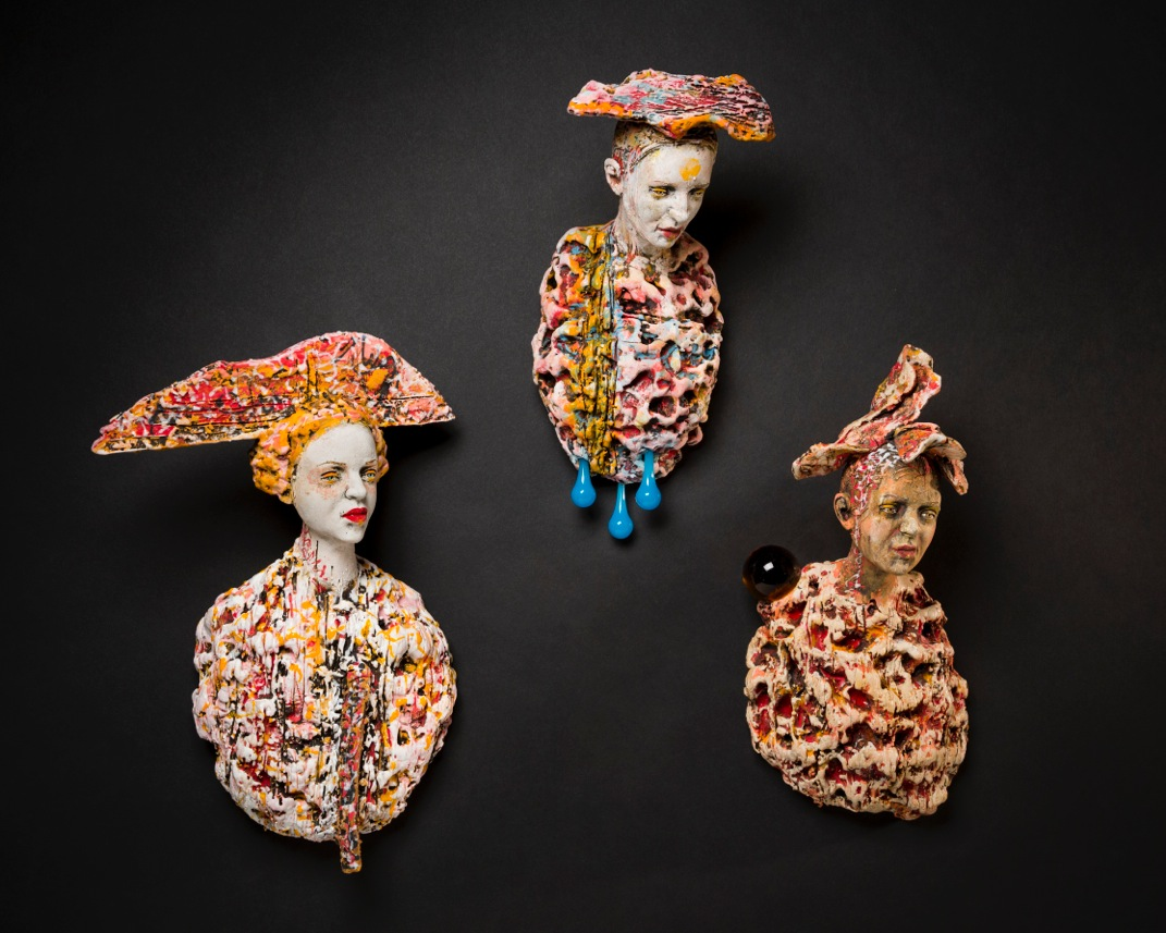 Courtiers, Warriors, and Pilgrims  Porcelain sculpture, dimensions vary