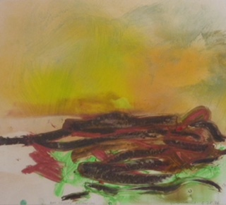 Bay County Agitation  Oil Stick on Paper