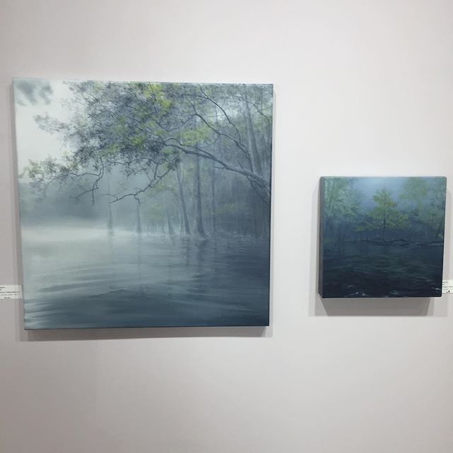 Partially Obscured by@carinwagner finding homes on #Sanibel  Great addition to the exhibit #Beauty Heals. @wfineart5 #atmospheric #landscape #florida #watmac