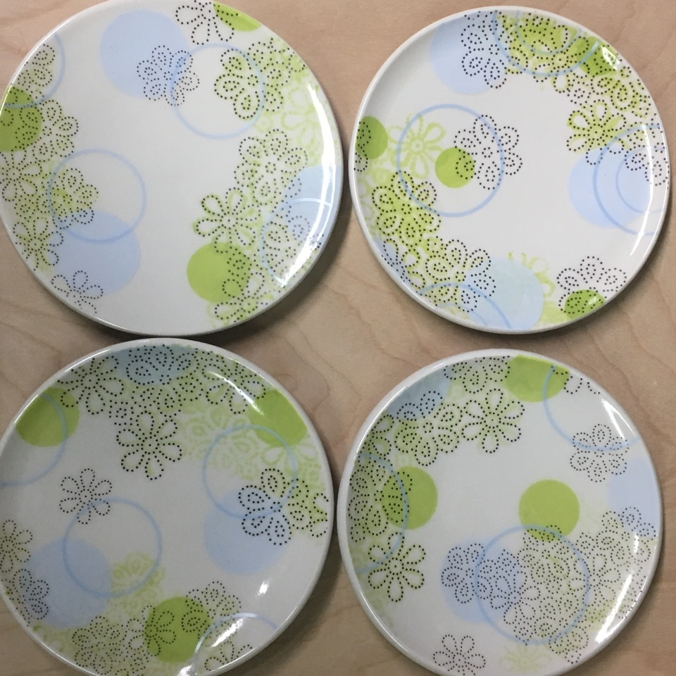 porcelain tablewear with decals