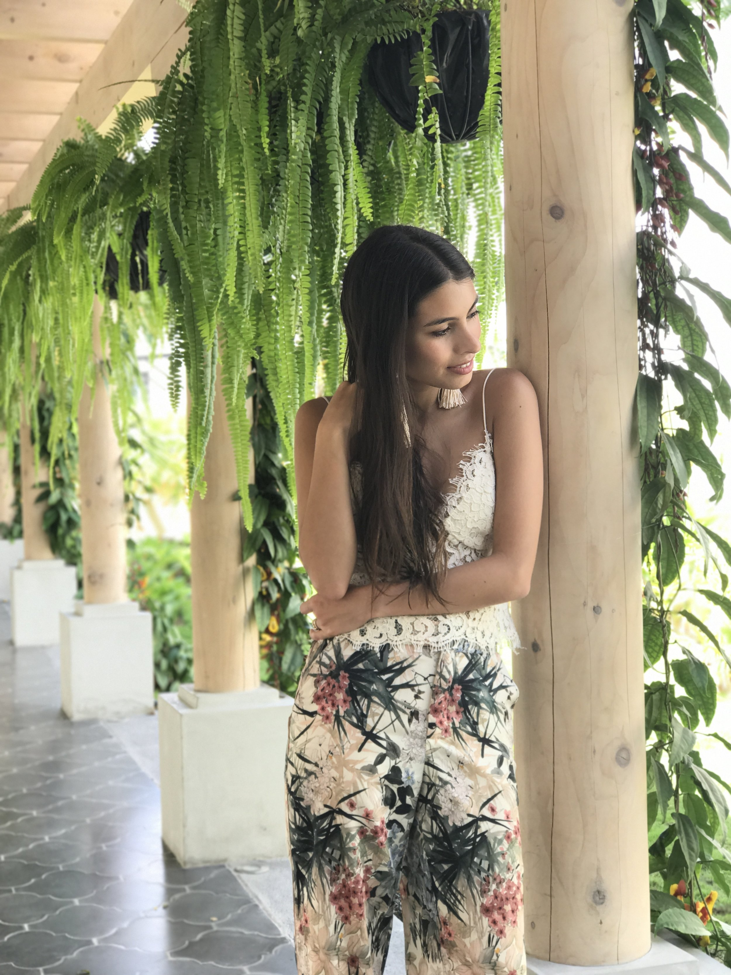 Fer Millan Antigua Guatemala Tropical Lace and Flower print