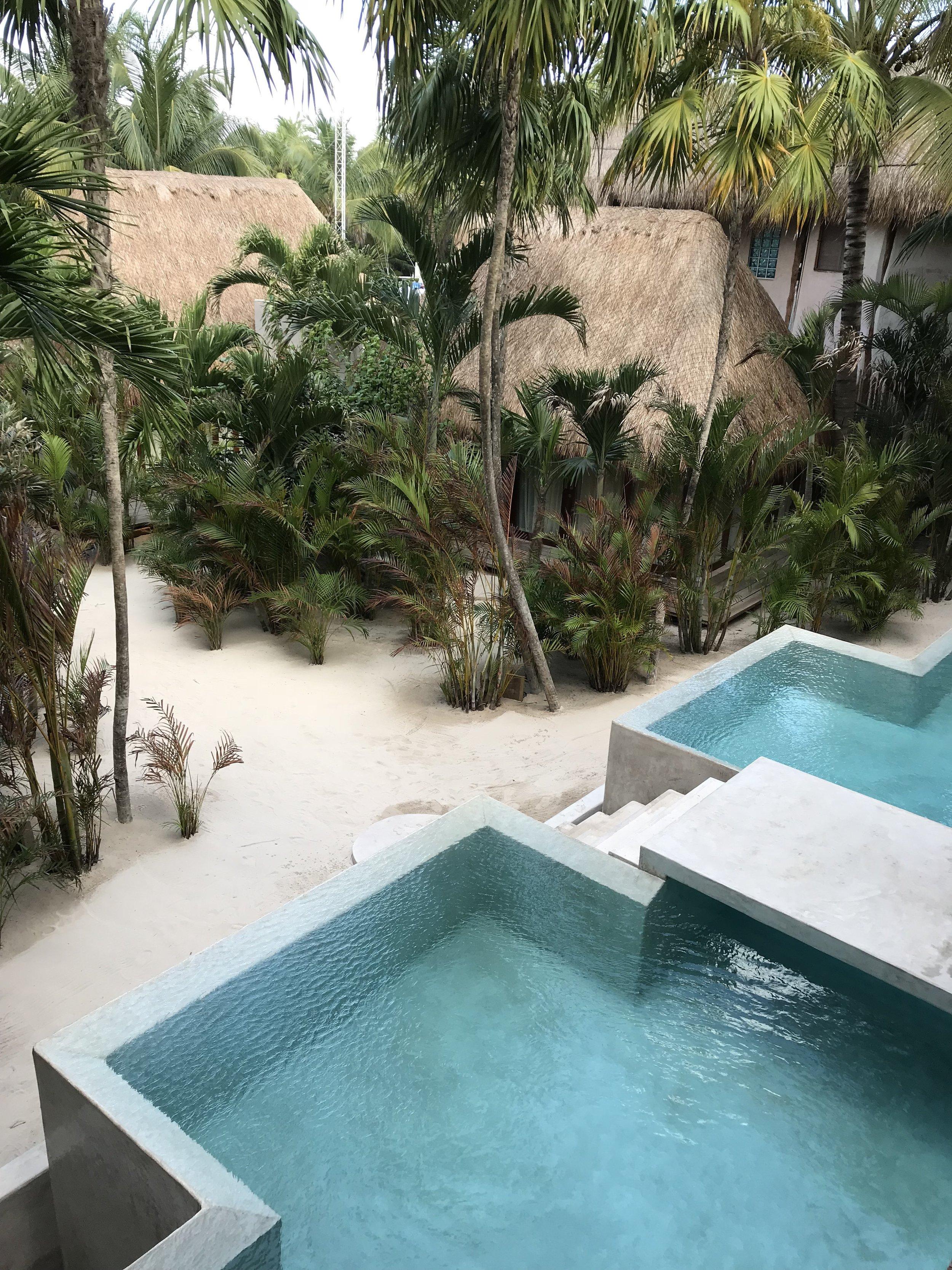pool alberca piscina La valise Tulum
