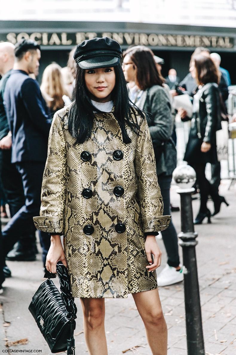 PFW-Paris_Fashion_Week-Spring_Summer_2016-Street_Style-Say_Cheese-Valentino_Spring_Summer_2016-Yoyo_Cao-Snake_Coat-Miu_Miu-Cap--790x1185.jpg