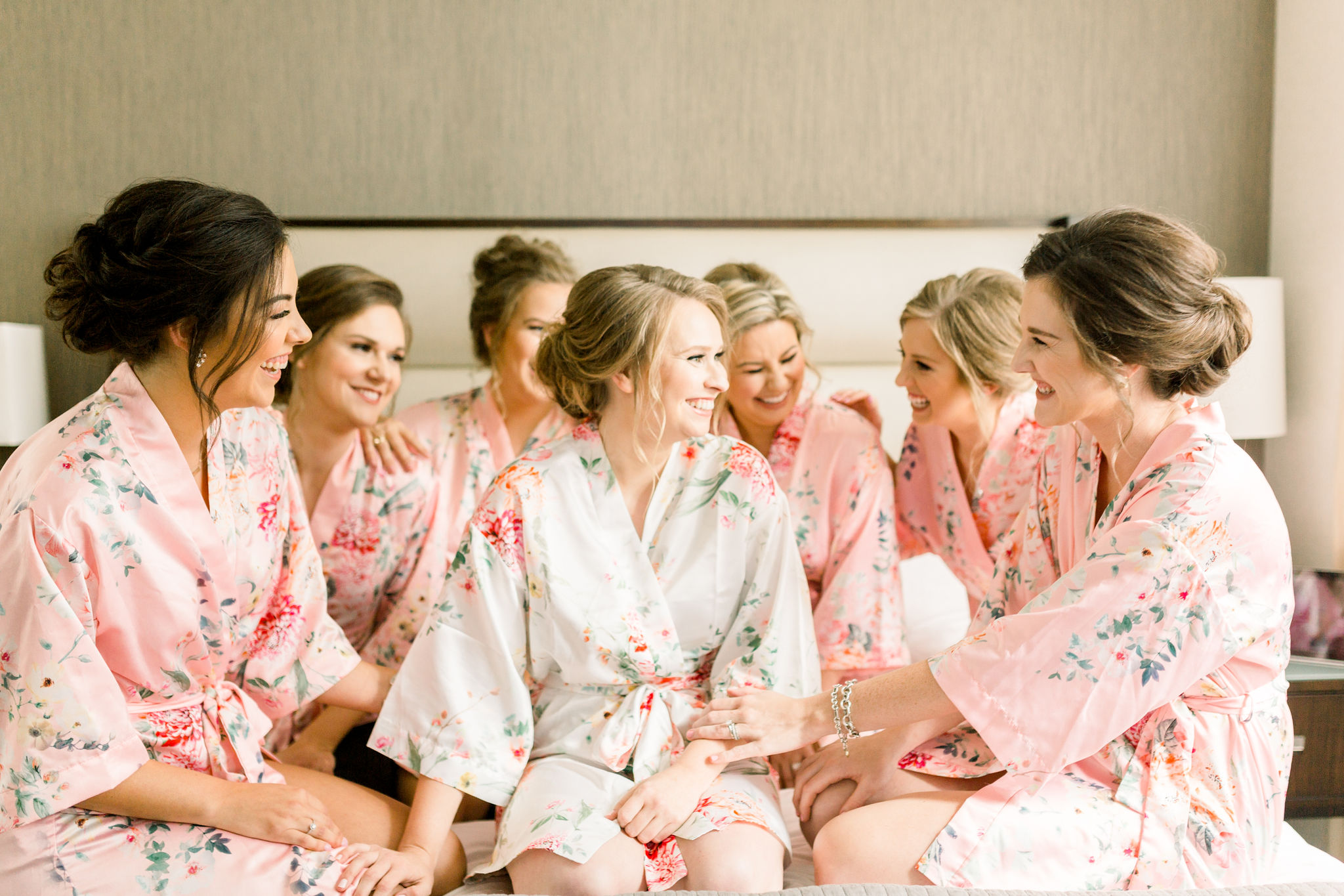 Houston bride and bridesmaids getting ready photo