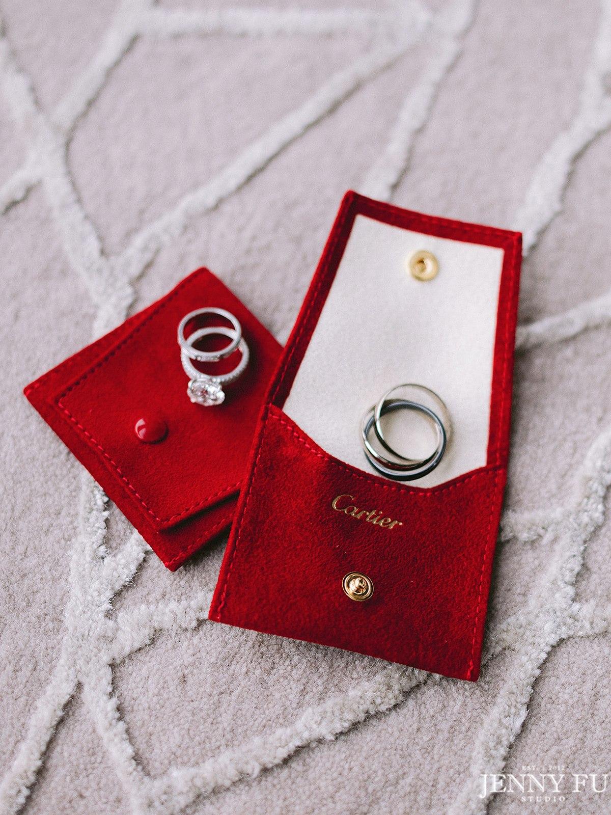 Cartier wedding ring detail shot