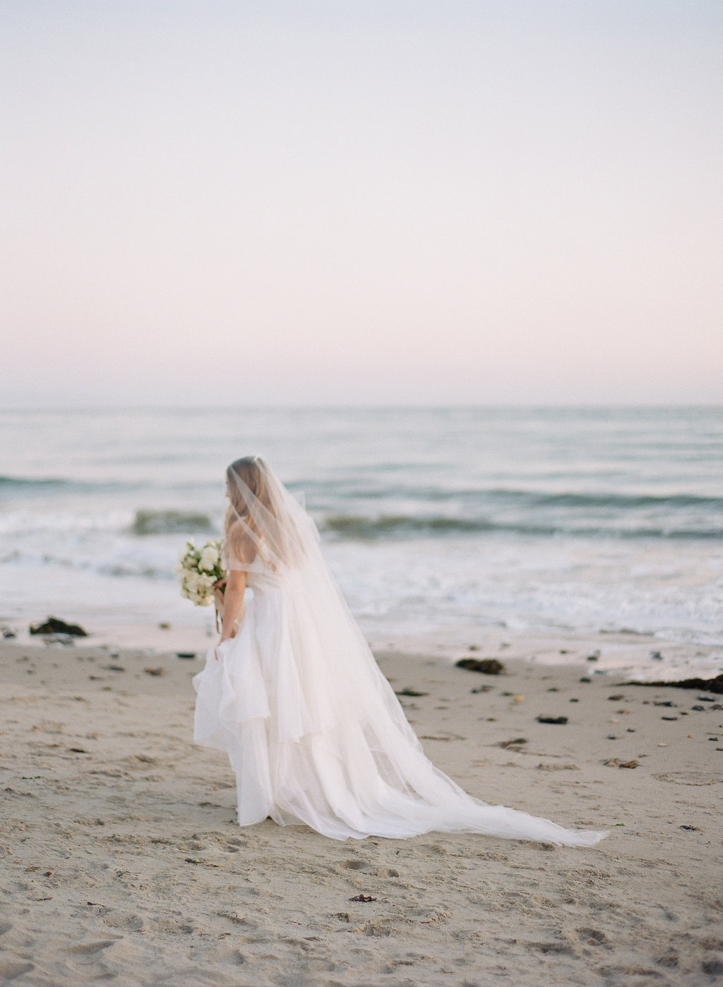 California beach elopement wedding dress