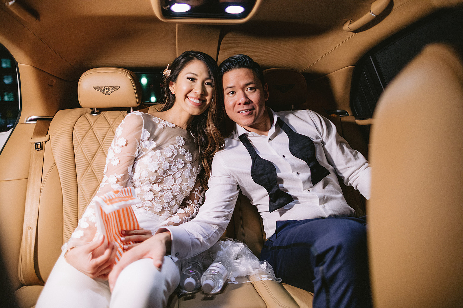 For Michelle and Soo's Modern Luxe wedding in the heart of downtown Houston, Spell Events…whataburger late night snack