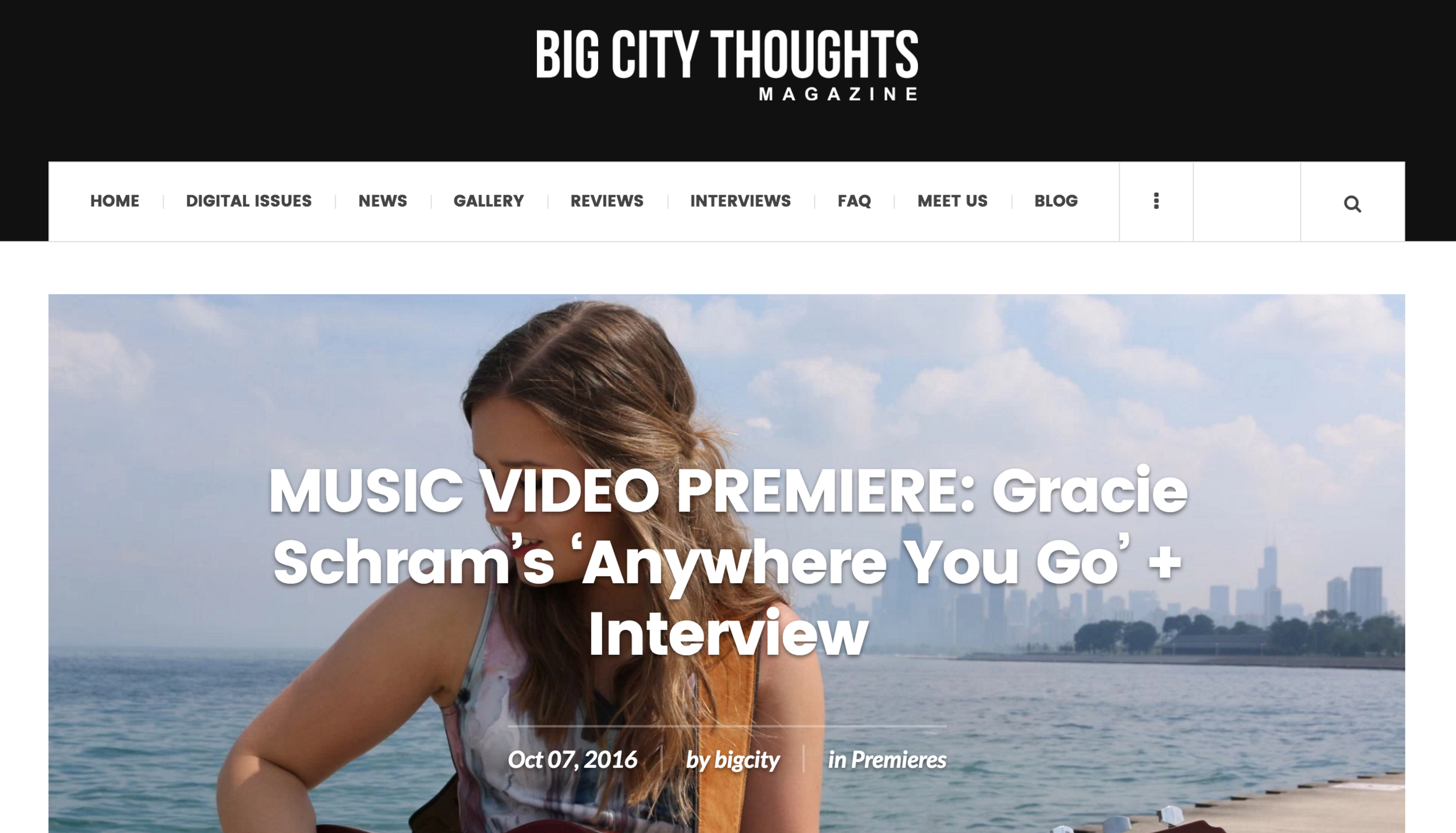 Gracie Schram - Big City Thoughts