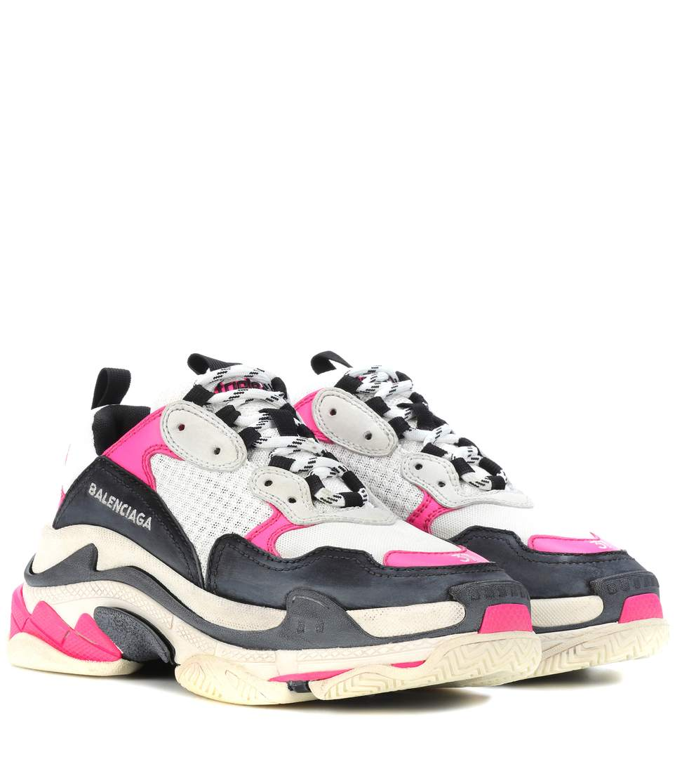 Balenciaga Triple S Sneakers - Cop these pink, designer sneaks at Net-a-Porter for $895.