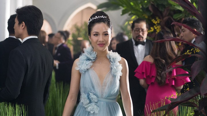 Constance Wu playing Rachel Chu in  Crazy Rich Asians