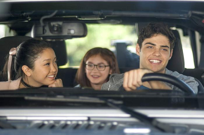 Actors (left to right) Lana Condor, Anna Cathcart, and Noah Centineo in  To All the Boys I've Ever Loved Before