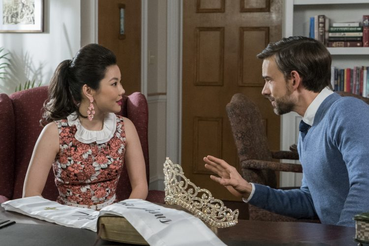Actors (left to right) Irene Choi and Christopher Gorham in  Insatiable