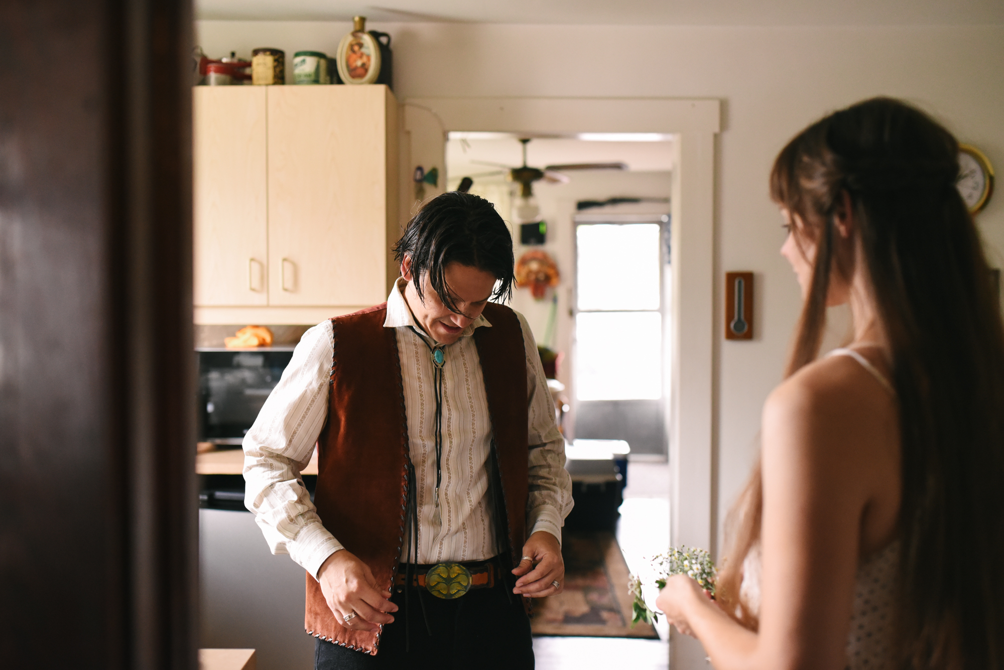 Mountains, Outdoors, Rustic, West Virginia, Maryland Wedding Photographer, DIY, Casual, Bride and Groom getting ready before ceremony