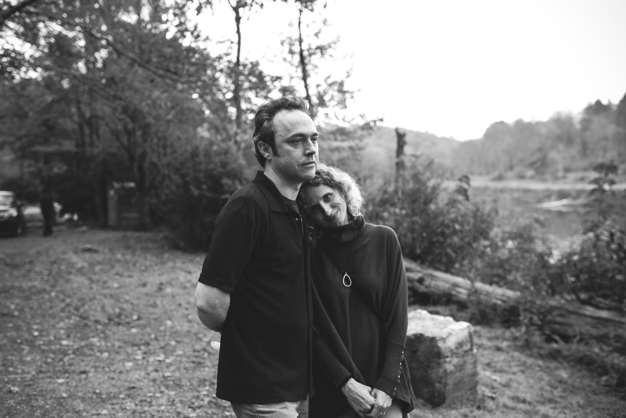 Mountain Wedding, Outdoors, Rustic, West Virginia, Maryland Wedding Photographer, DIY, Casual, portrait of couple at reception, black and white photo