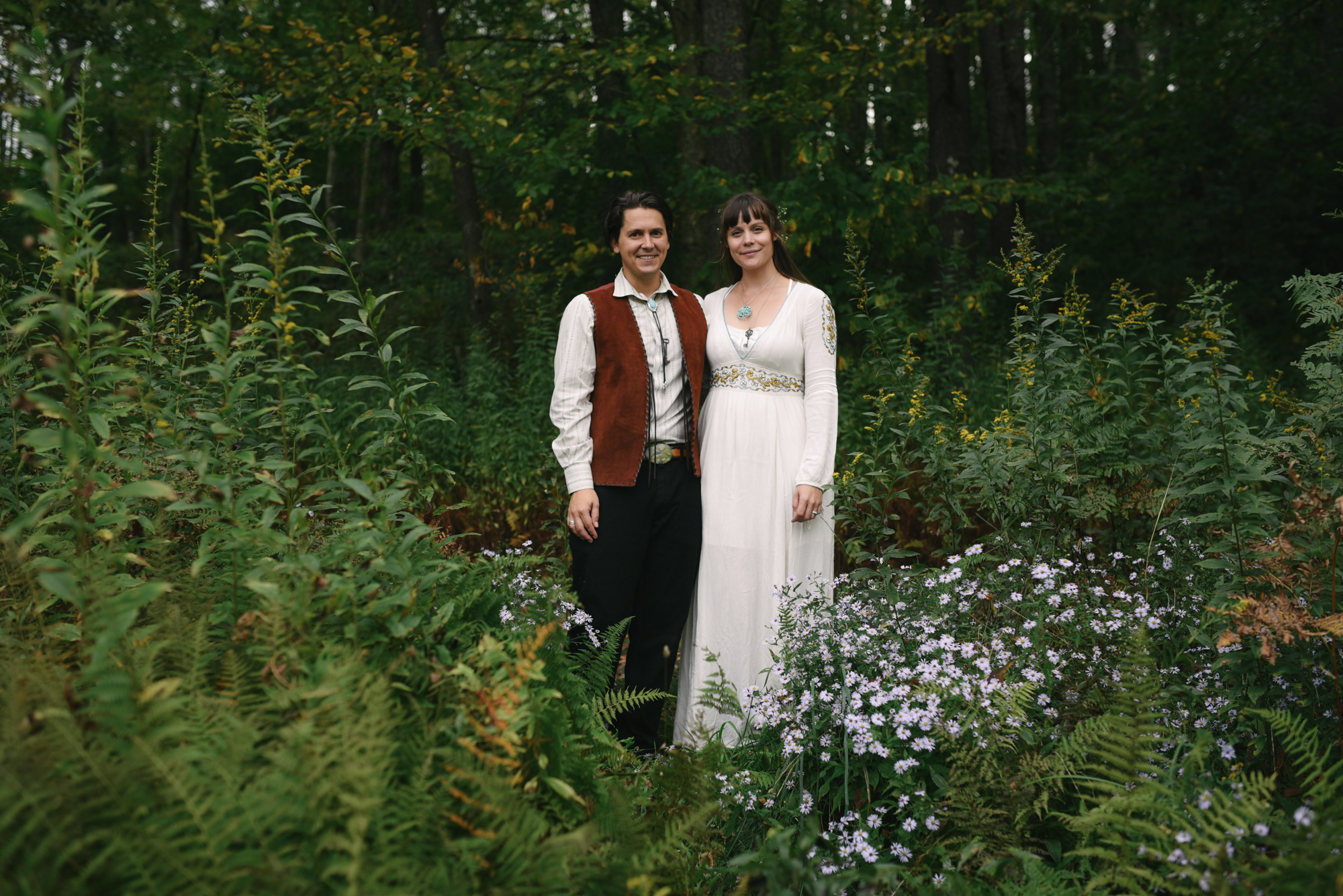 Mountain Wedding, Outdoors, Rustic, West Virginia, Maryland Wedding Photographer, DIY, Casual, portrait of bride and groom in the woods