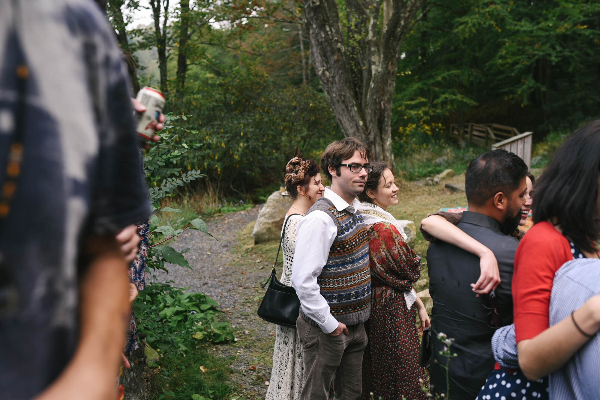 Mountain Wedding, Outdoors, Rustic, West Virginia, Maryland Wedding Photographer, DIY, Casual, wedding guests outside at reception