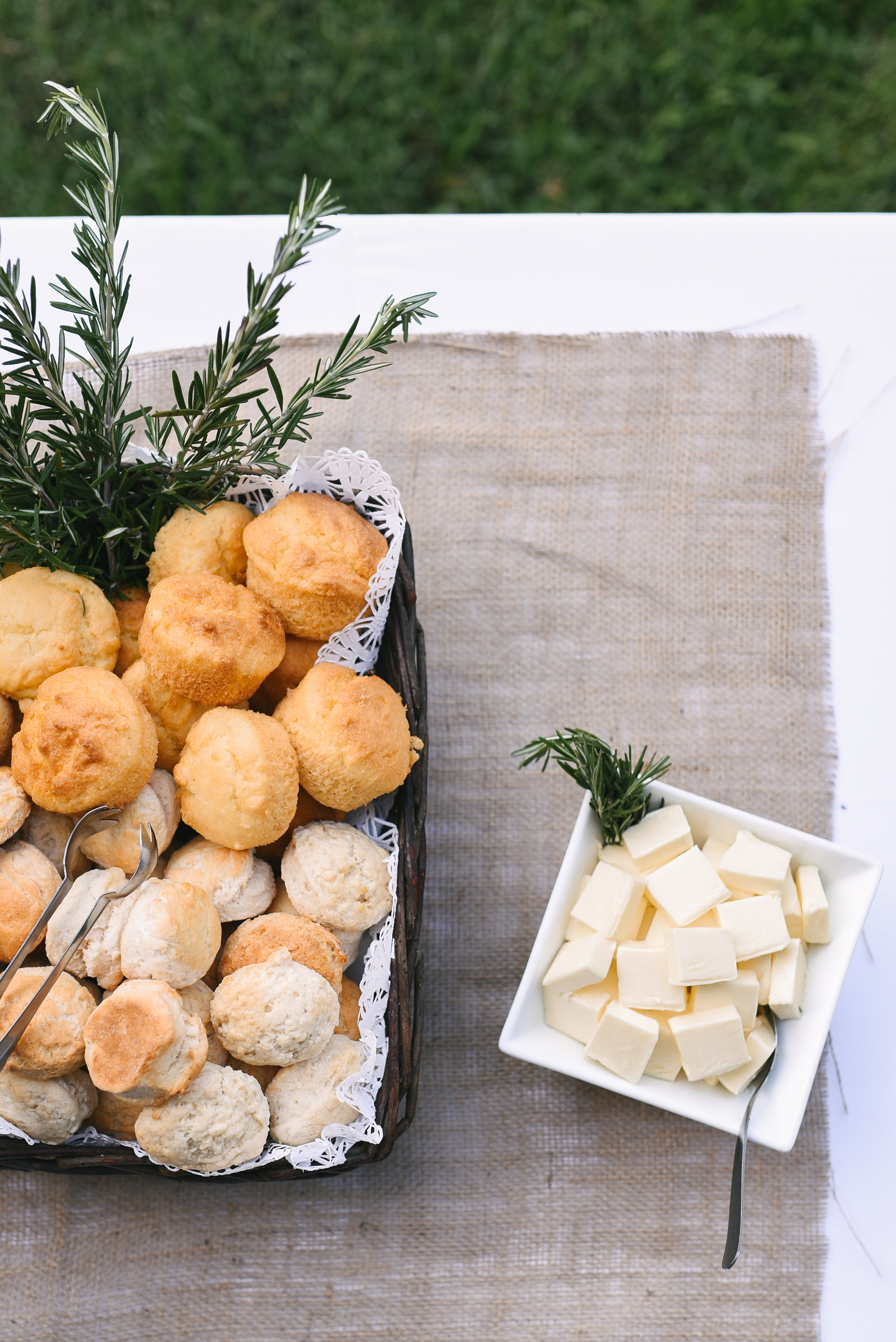 Maryland, Eastern Shore, Baltimore Wedding Photographer, Romantic, Boho, Backyard Wedding, Nature, Homestyle, Food at Reception, Biscuits and Butter, Ken's Creative Kitchen