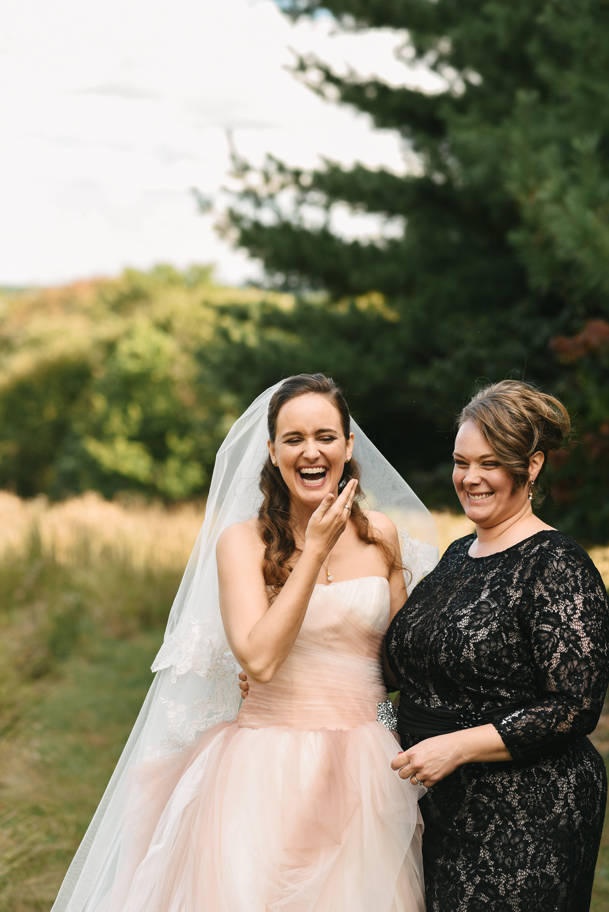 Vintage, DIY, Rustic, Germantown, Baltimore Wedding Photographer, Alternative, Casual, Outdoor Wedding, Church Wedding, Whimsical, Campground, Wedding Jewelry, Bride Laughing, Portrait