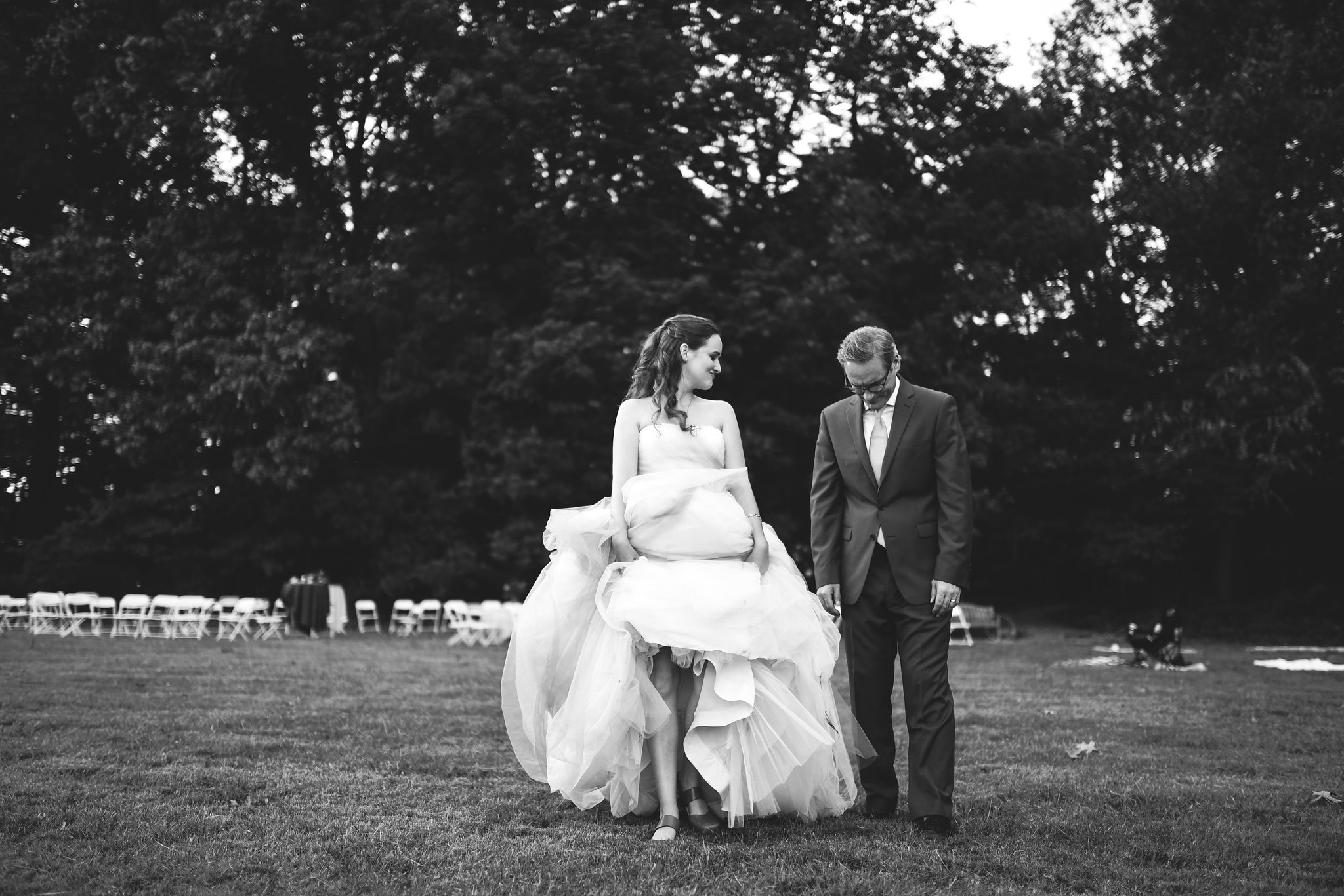 Vintage, DIY, Rustic, Germantown, Baltimore Wedding Photographer, Alternative, Casual, Outdoor Wedding, Church Wedding, Whimsical, Campground, Bride and Groom, Black and White Photo, Cute