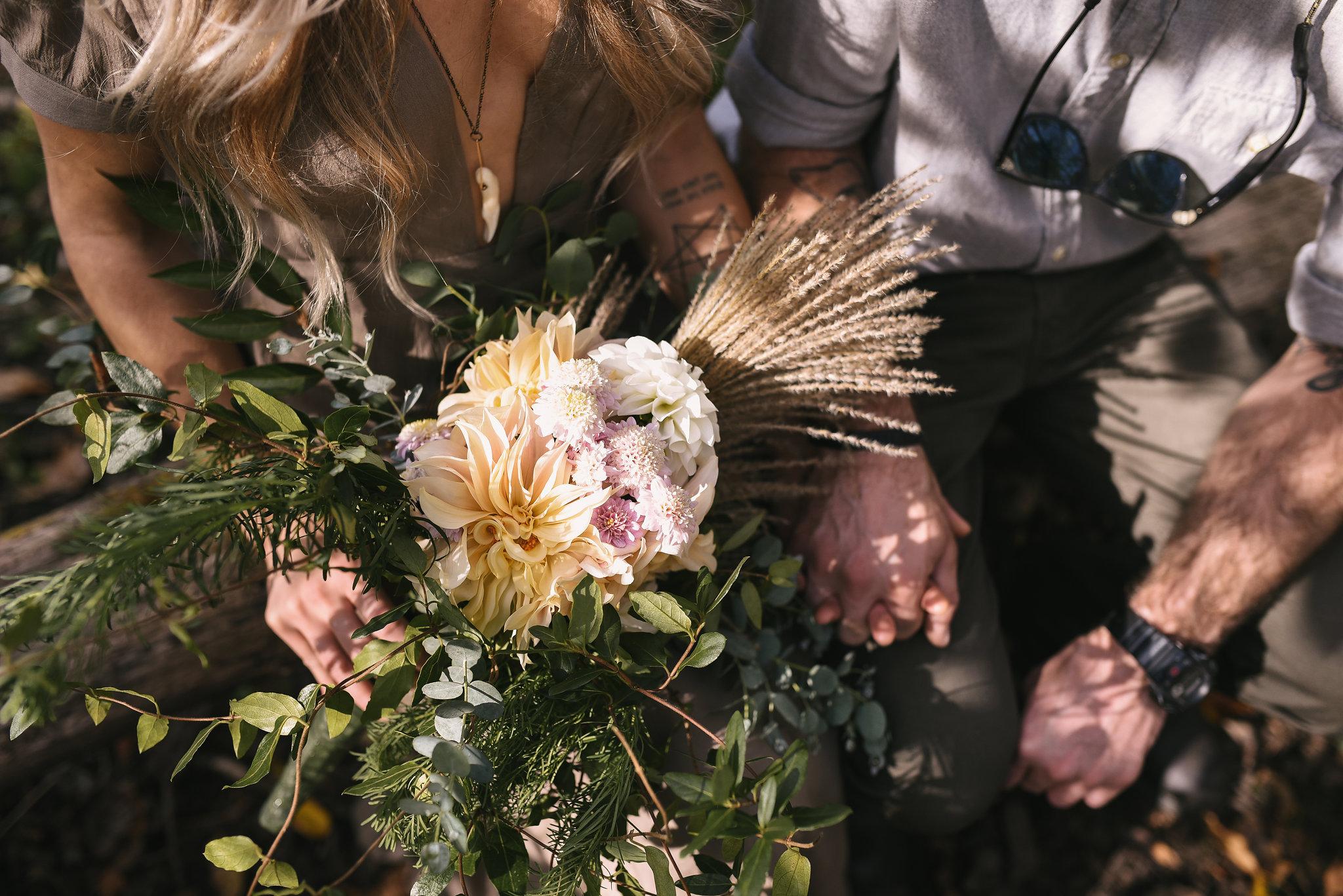 Baltimore, Maryland Wedding Photographer, Backyard Wedding, DIY, Rustic, Casual, Fall Wedding, Woodland, Dahlias, Butterbee Farm Flowers