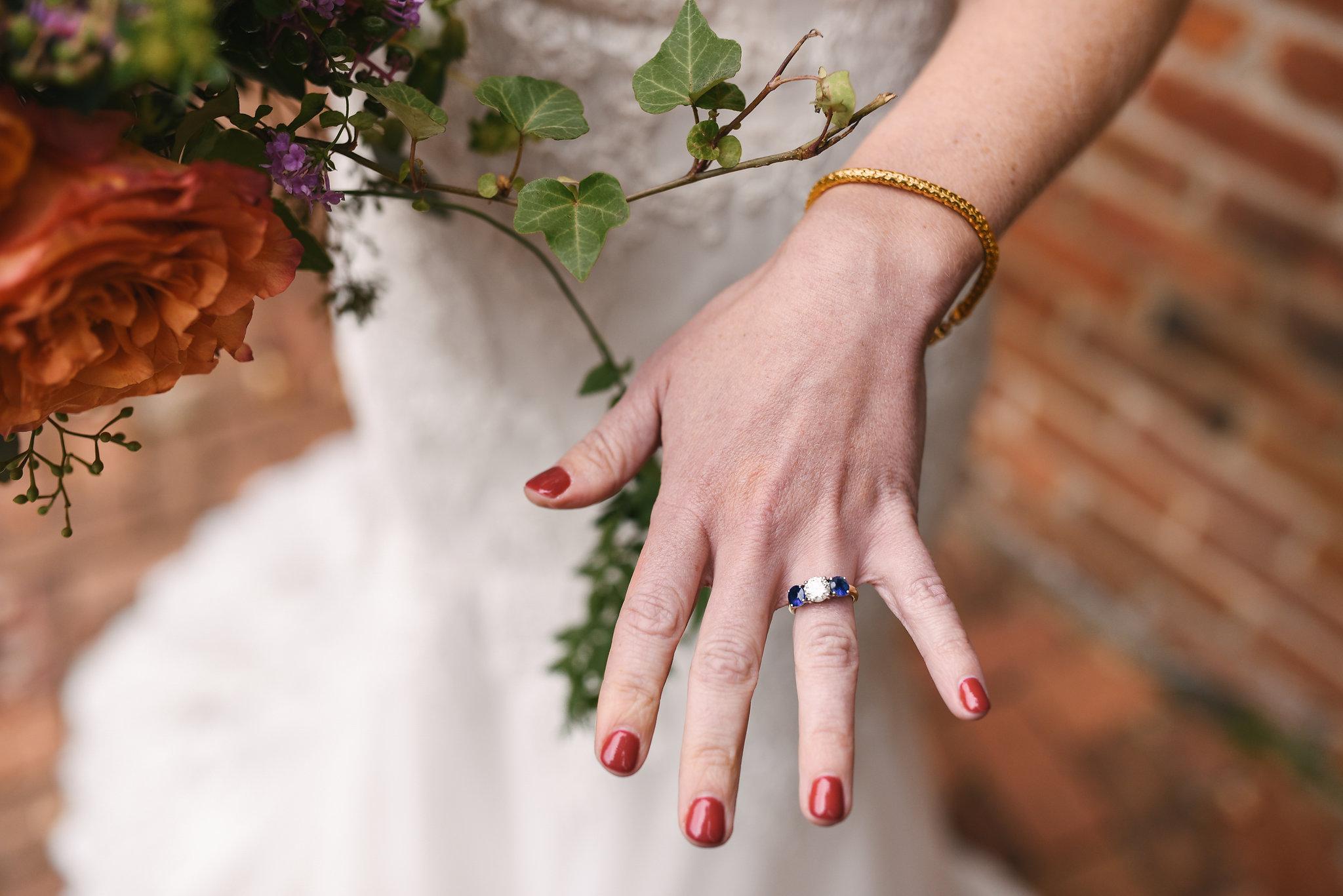 Fall Wedding, Alexandria, Wedding Jewelry, Ring Detail, Engagement Ring, Wedding Flowers, Detail Photo