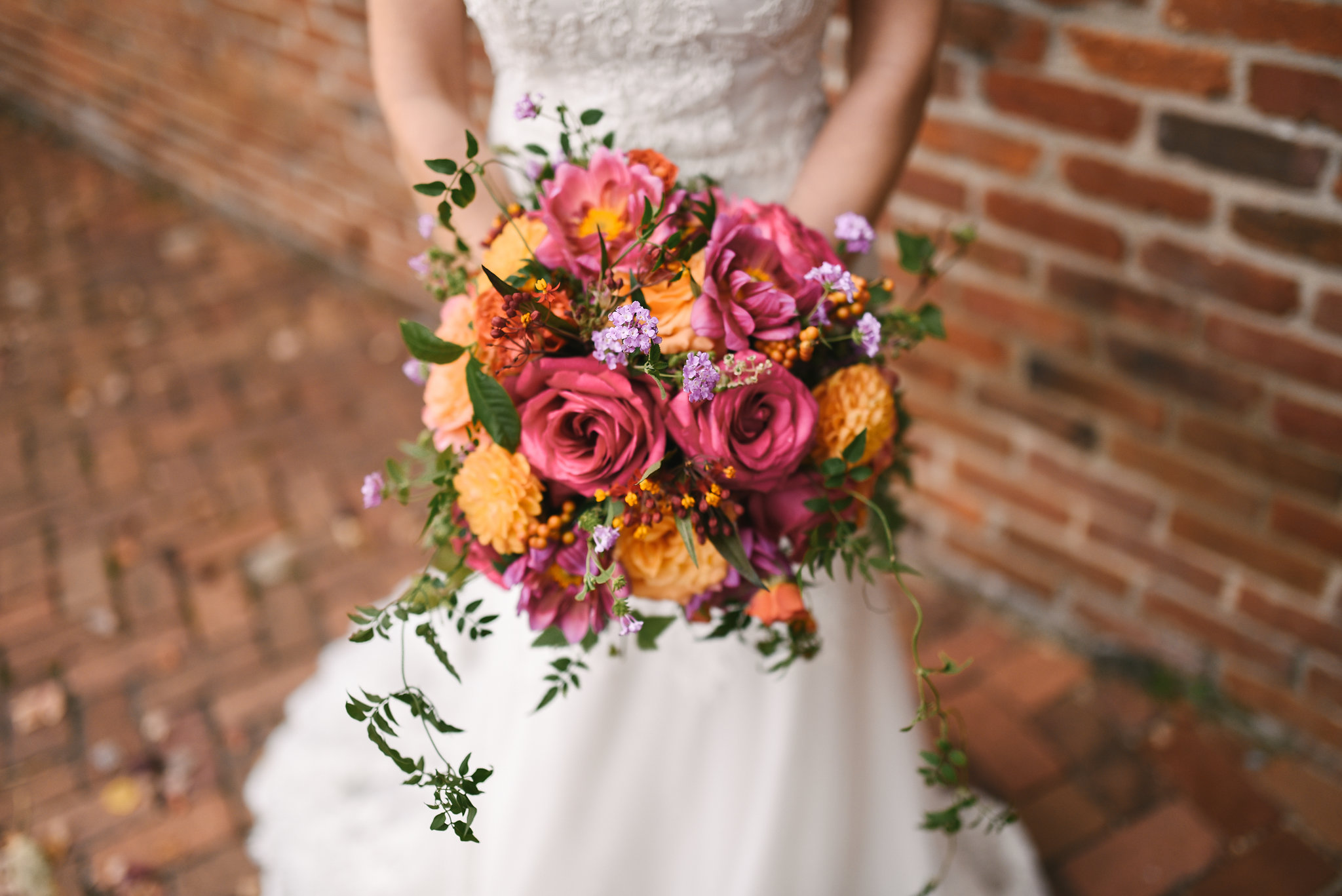 Fall Wedding, Alexandria, DC, Old Town, Wedding Flowers, Detail Photo, The Enchanted Florist Bouquet, Rustic, Romantic, Roses